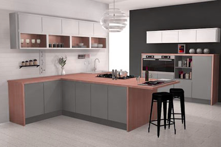 Oxford Kitchen Design - a typical CAD design output